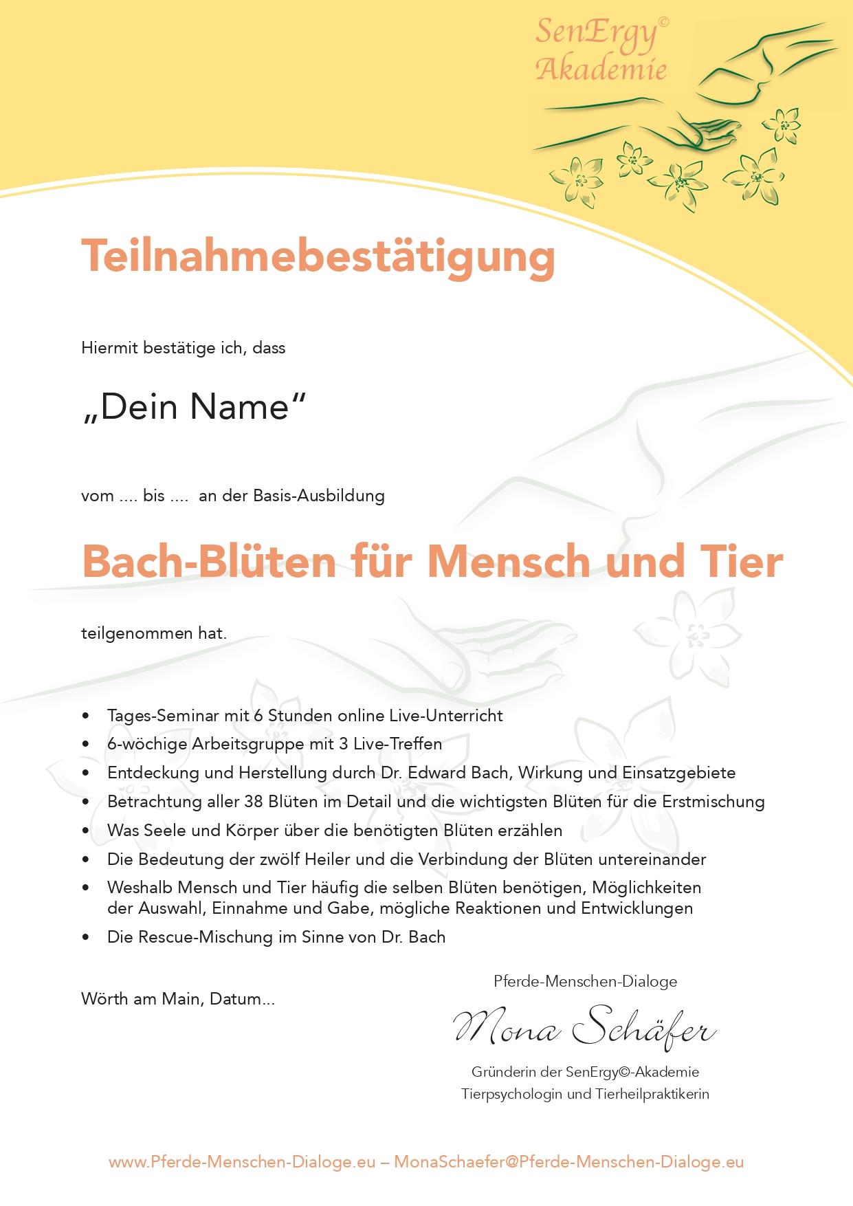 Bach-Blüten für Mensch und Tier